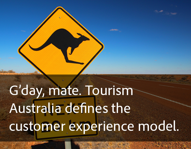 G'day, mate. Tourism Australia defines the customer experience model