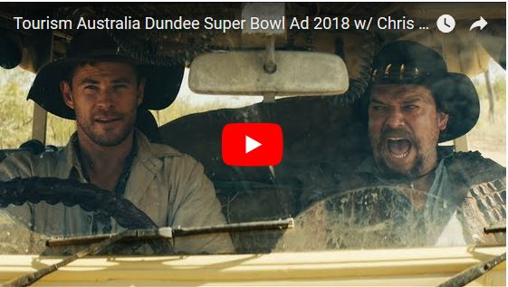 Tourism Australia Dundee Super Bowl Ad 2018 w/ Chris Hemsworth and Danny McBride