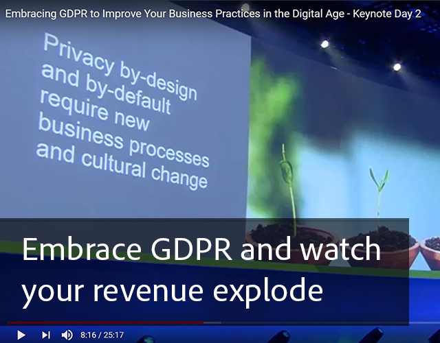 Embrace GDPR and watch your revenue explode